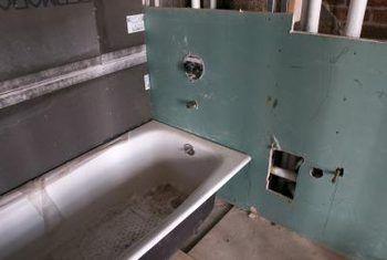 Información de remodelación de baño verde