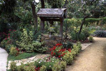 Cómo paisajismo en torno a un pozo de deseos